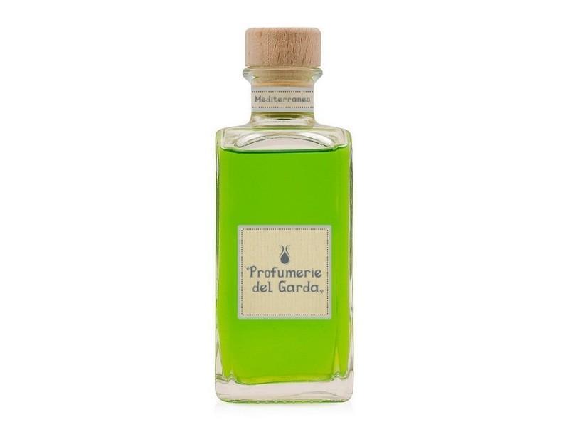 Homemania diffuseur mediterraneo - assainisseur d'air avec bâtons - parfum boisé et d'agrumes - 200 ml vert en verre, bois, parfum, 5 x 5 x 14 cm