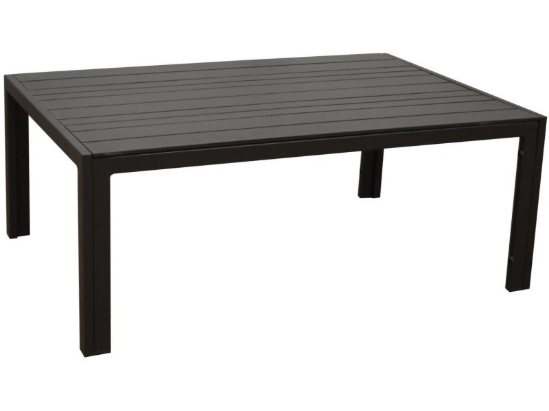Table basse de jardin en aluminium plateau à lattes
