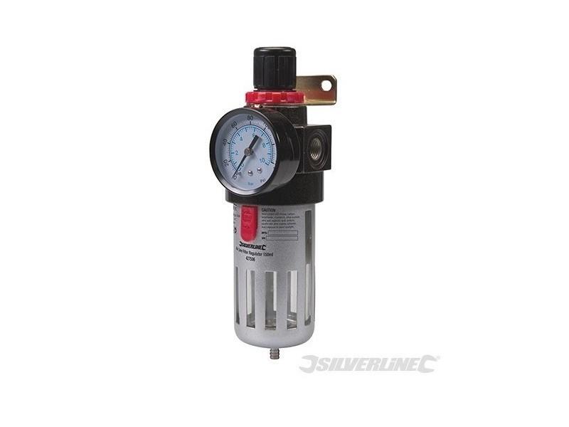 Silverline - filtre régulateur pour air comprimé - 150 ml