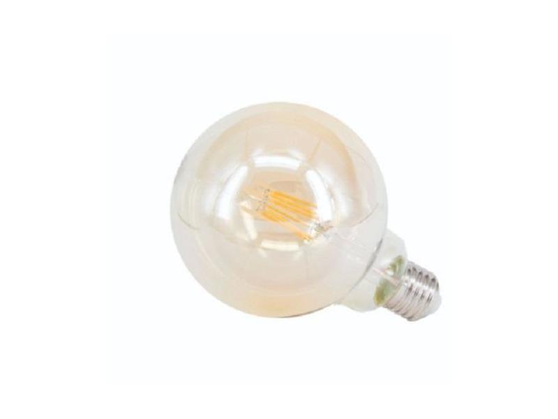 Ampoule e27 led 6w 220v g125 fumée - blanc chaud 2300k - 3500k