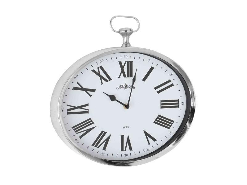 horloge gousset ovale chrome vente de emde premium conforama. Black Bedroom Furniture Sets. Home Design Ideas