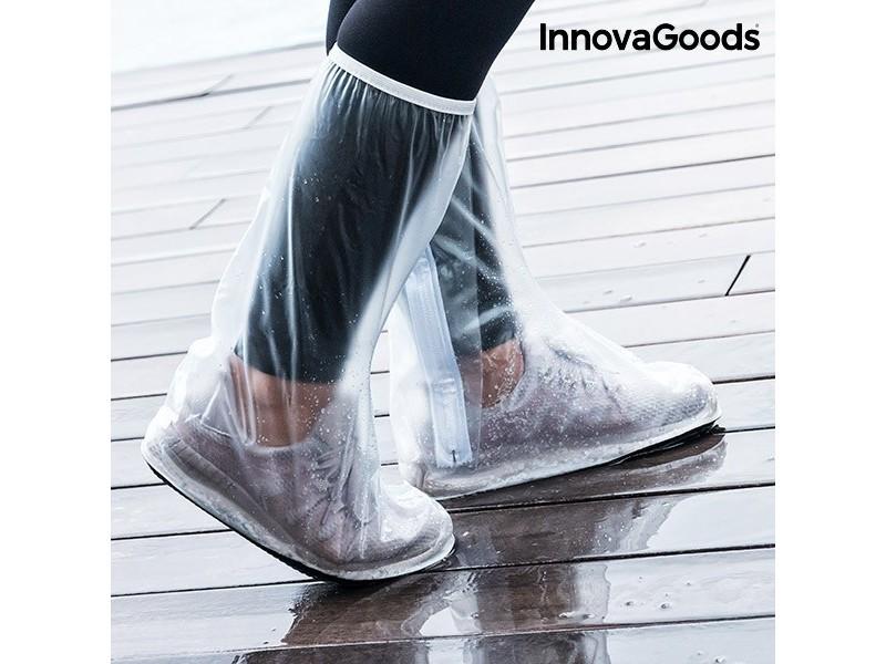 Surchaussure imperméable de poche (pack de 2) - protection réutilisable pour chaussures taille - l/xl