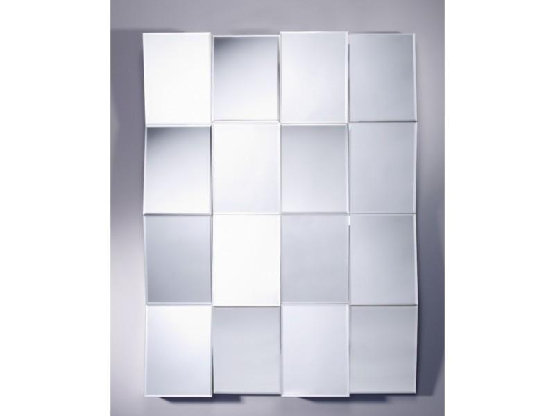 Miroir design zig zag modern contemporain rectangulaire naturel ...