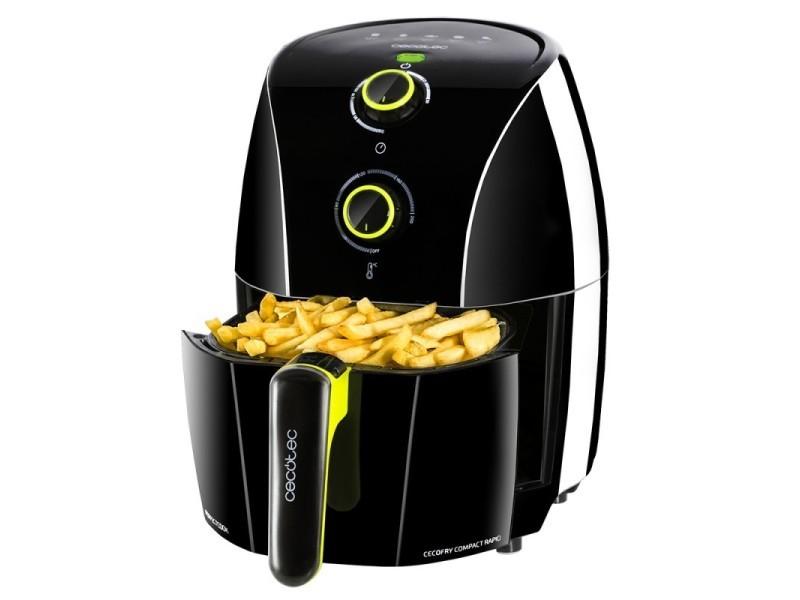 Friteuse diététique sans huile cecofry compact rapid black, cecotec, cuisinez sans huile