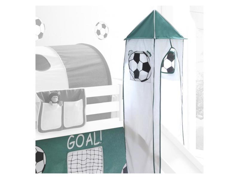 32a38636abd0a2 interesting donjon tour tente pour lit surlev avec toboggan motif foot vert  et blanc vente de idimex conforama with tente lit surlev.