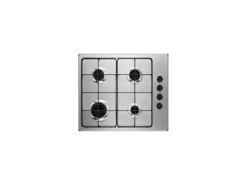 Table de cuisson gaz - 59 cm - 4 foyers - encastrement facile - design ultra fin - inox