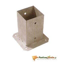 Support poteau à fixer 7x7cm