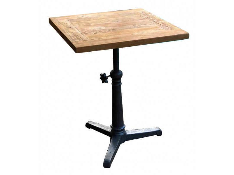 Bistrot 60 - table hauteur réglable bois massif