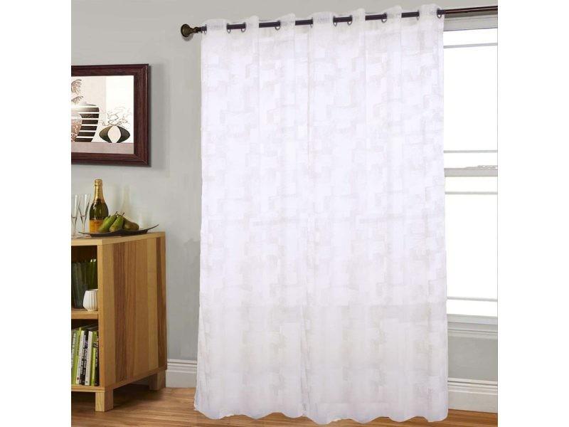 voilage grande largeur mosaic blanc dimensions. Black Bedroom Furniture Sets. Home Design Ideas