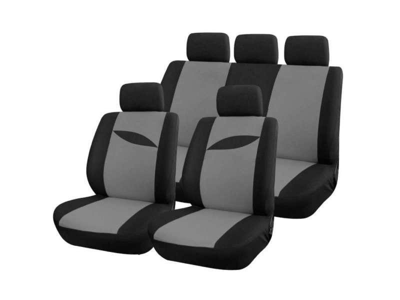 housse auto grise universel 9 pcs vente de housse et galette de chaise conforama. Black Bedroom Furniture Sets. Home Design Ideas