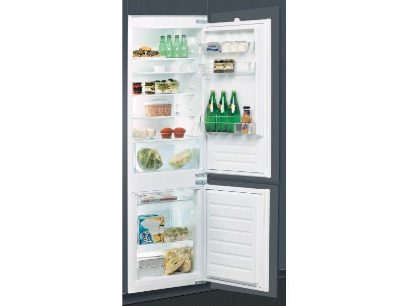 Réfrigérateur combiné 275l froid statique whirlpool integrable 54cm a+, art65021 WHI8003437046407