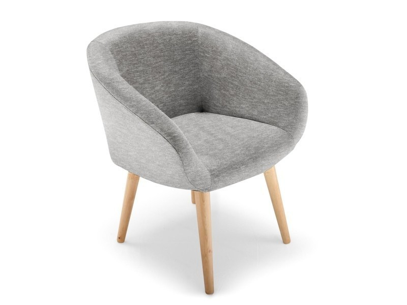 Chaise Fauteuil Style Scandinave Frost Gris
