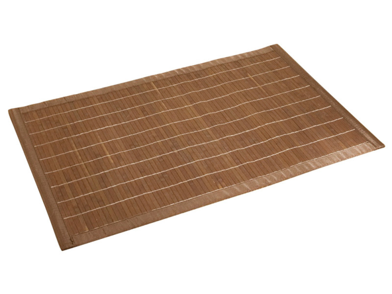 Tapis de bain bambou 50x80 marron foncé