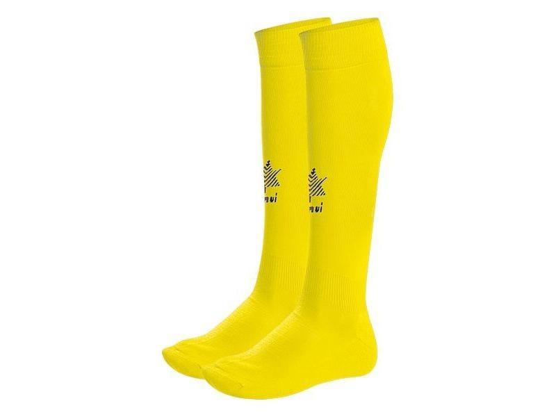 Chaussettes de football stylé chaussettes de football pour adultes luanvi goal jaune polyester/polyamide (taille unique)