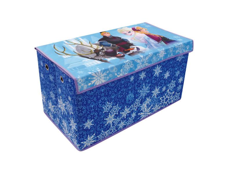 Coffre à jouets pliable avec oeillets la reine des neiges disney ...