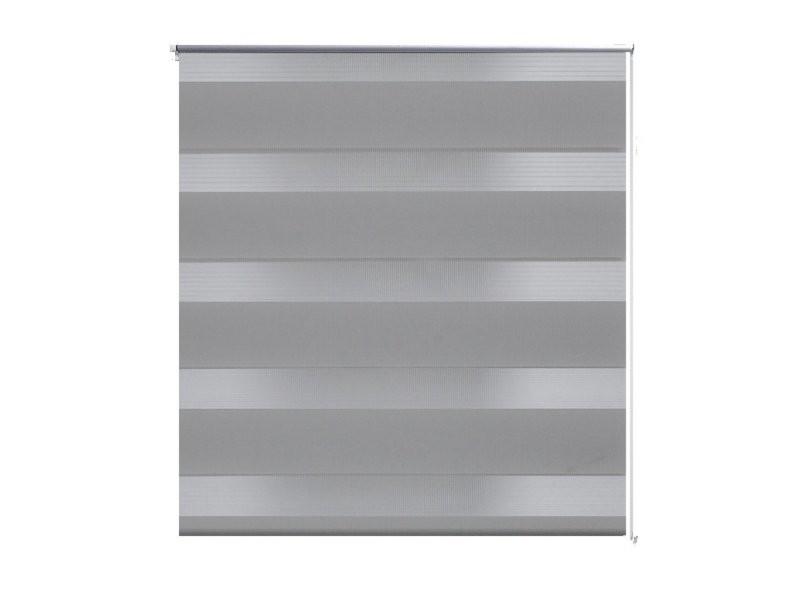 Store enrouleur gris tamisant 60 x 120 cm fenêtre rideau pare-vue volet roulant helloshop26 4102085