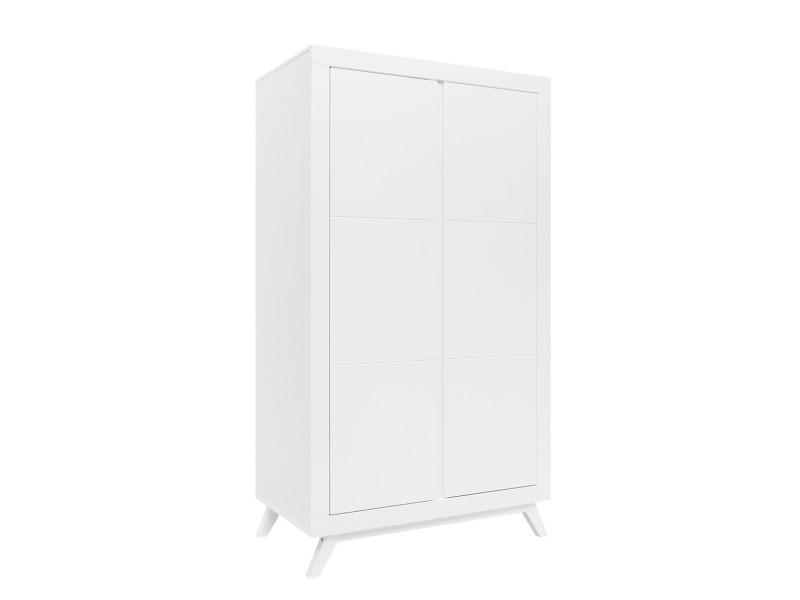 Armoire 2 portes anne - blanc