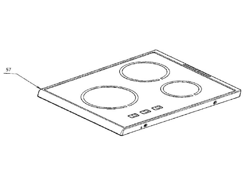 Plaque dessus verre vitro-ceram reference : 342828086