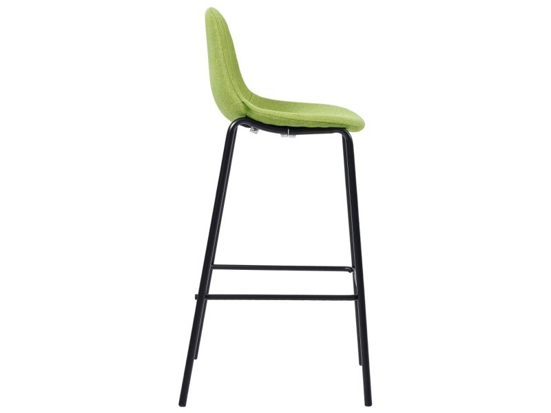 Vidaxl chaises de bar 2 pcs vert tissu 281533 Vente de