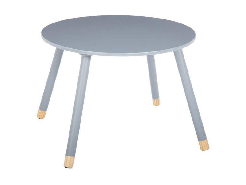Table douceur gris pour enfant en bois ø60cm