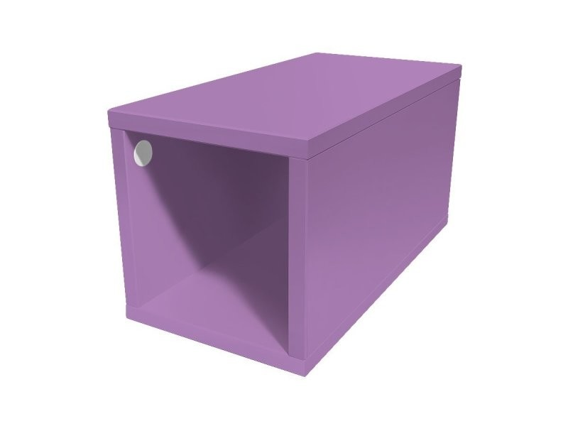 Cube de rangement bois 25x50 cm 25x50 lilas CUBE25-Li
