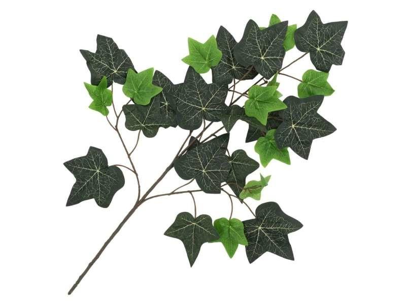 Vidaxl 10 pcs feuilles artificielles de lierre vert 70 cm 280127