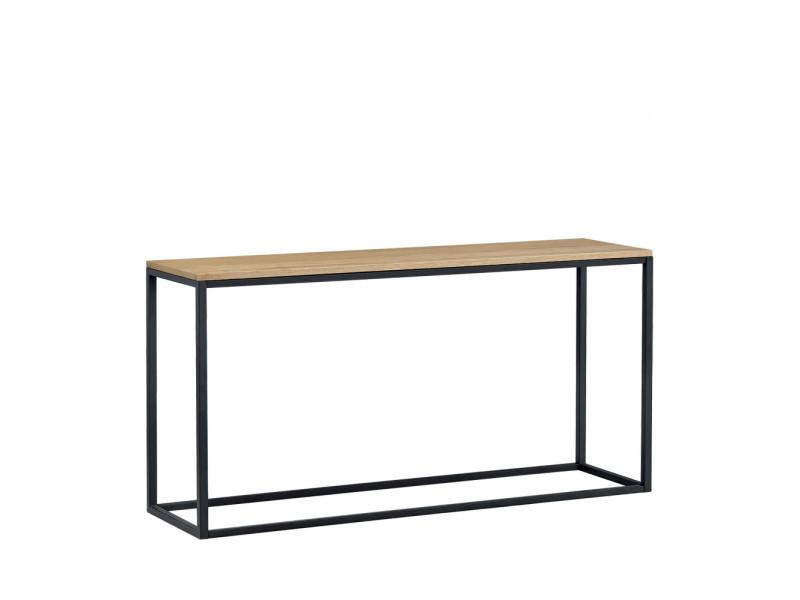 Temmelig - console bois et métal - couleur - bois clair / noir 1309