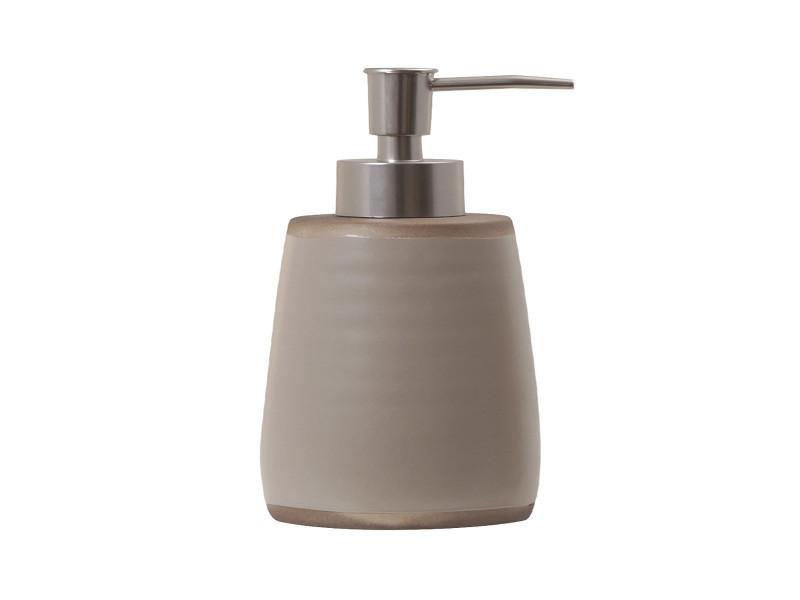Pompe à savon en céramique - beige - dimensions :