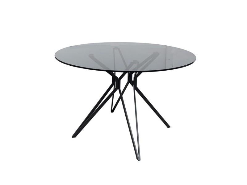 Table ronde 120 cm avec plateau en verre - viko