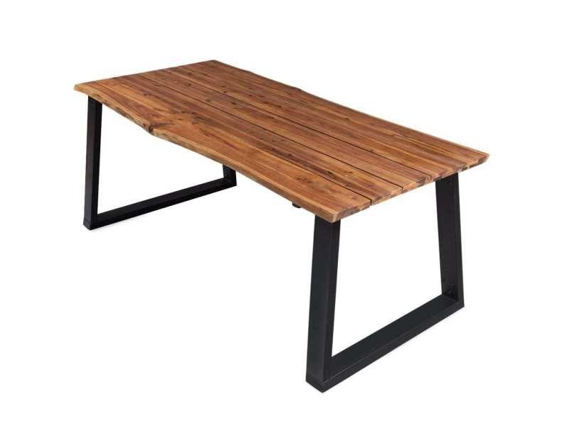 Vidaxl table de salle à manger 170x90x75 cm bois d'acacia massif 325295