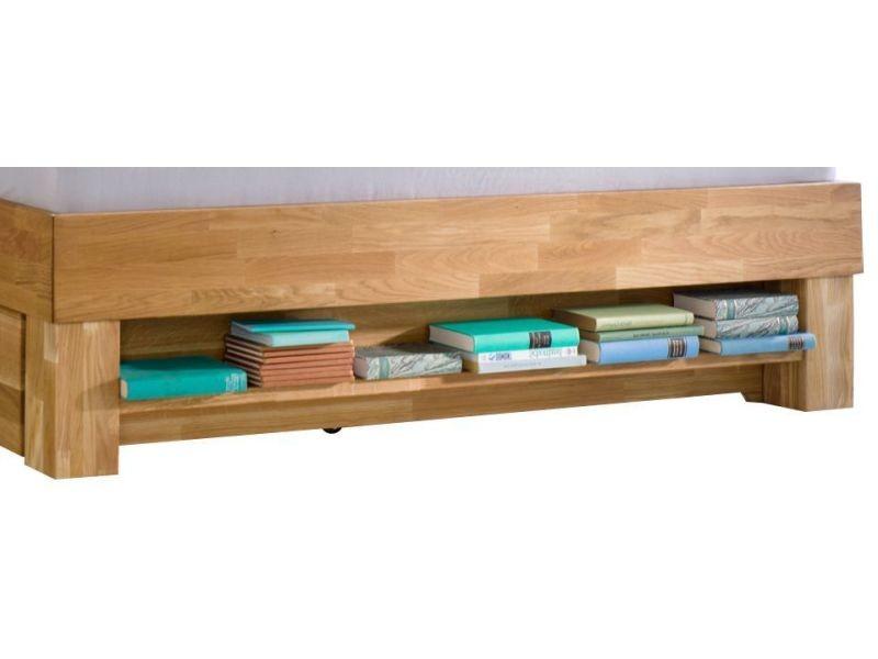 Étagère pour lit en bois massif chêne huilé 90 cm - Vente de ...
