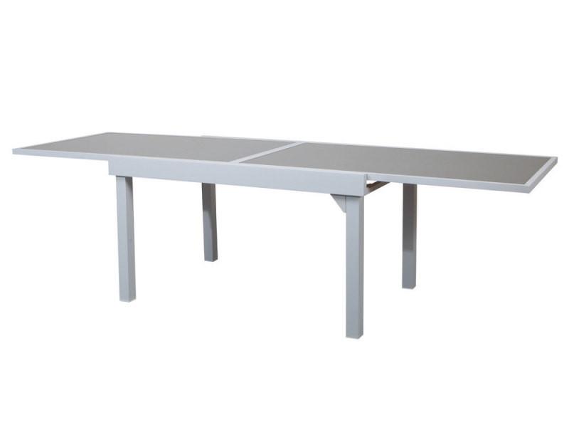 Table de jardin extensible en alu et verre - modena - Vente de Salon ...