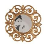 Miroir ouvragé - precious - l 103 x l 5 x h 103 - neuf