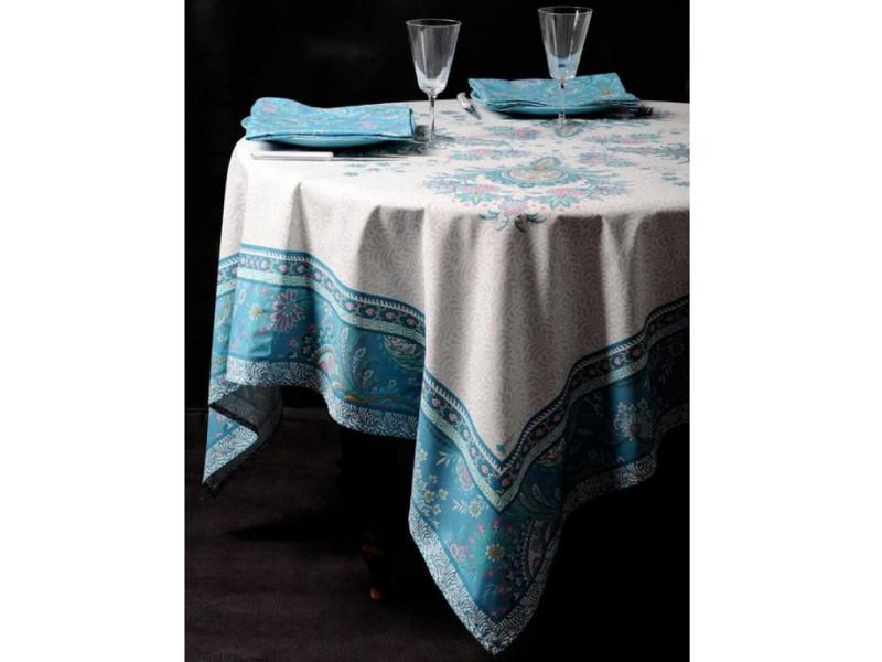 Nappe ronde valdrome bleue 180 cm