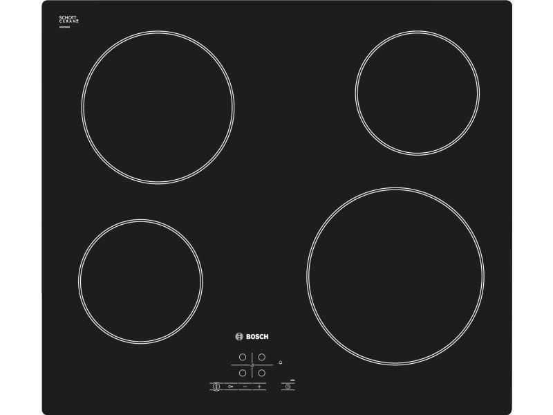 Table de cuisson vitrocéramique 60cm 4 feux 6.6kw noir - pke611b17e pke611b17e