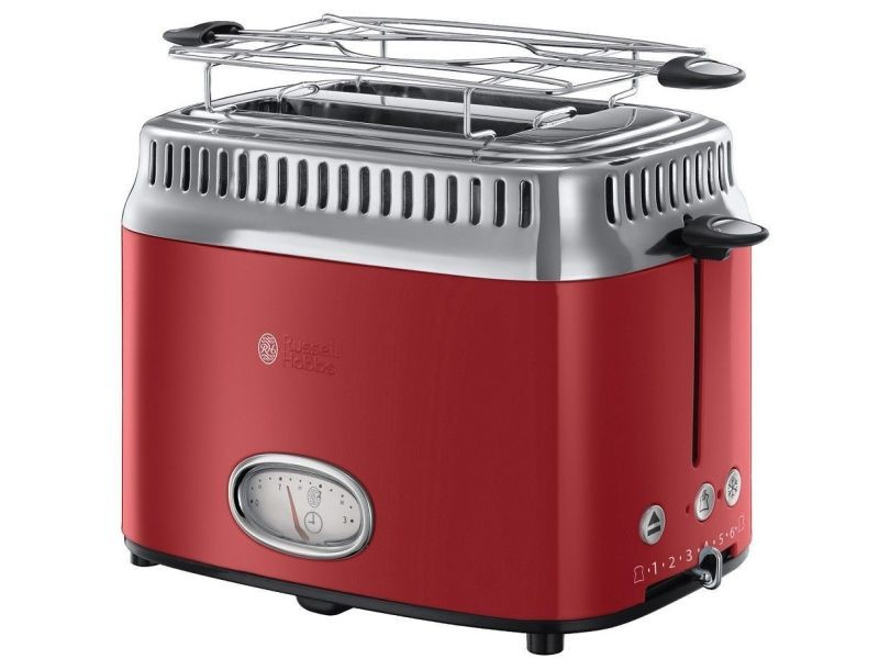 Russell hobbs grille-pain retro rouge 1300 w 5379