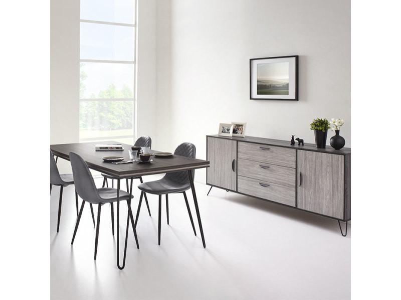 Salle à manger moderne couleur bois gris santori - Vente de ...
