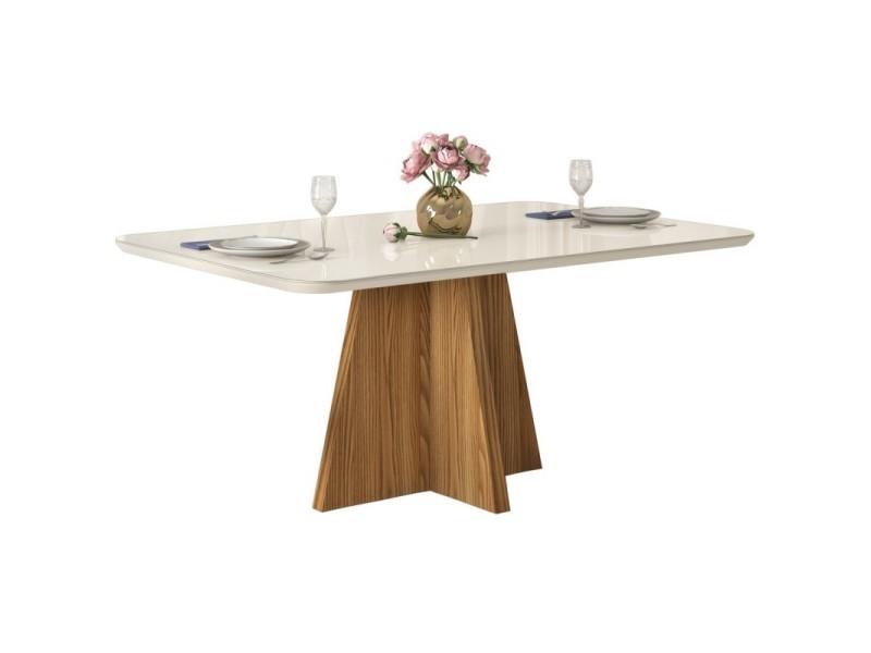 Table à manger 6 personnes chêne et blanc