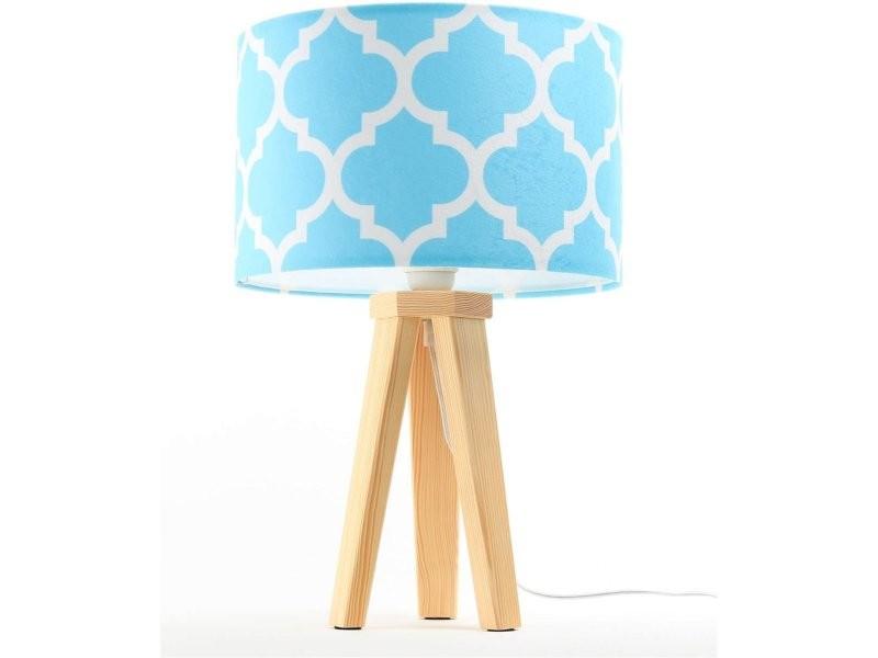 Chevet Bois Classic 005 De Et Collection Lampe Bleu 040s Vente nOP80wkX