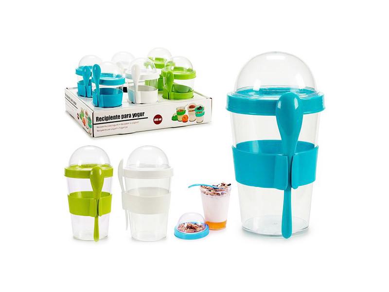 Ustensiles et accessoires de cuisine moderne verre avec couvercle 400 ml