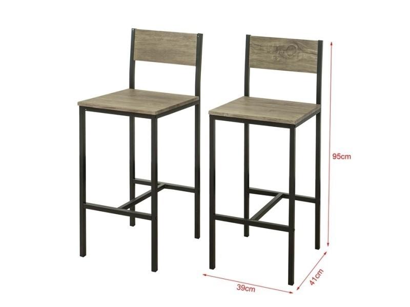 tabourets de cuisine bar Lot bar de de chaises 2 chaises 5A3RLqScj4