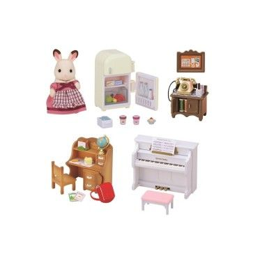 Set ameublement et figurine pour le cottage