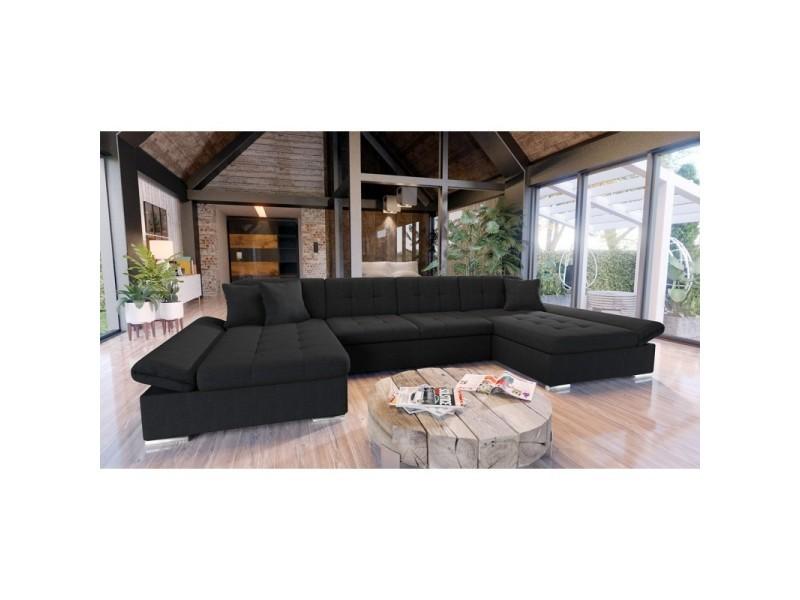 Canapé d'angle convertible alon noir
