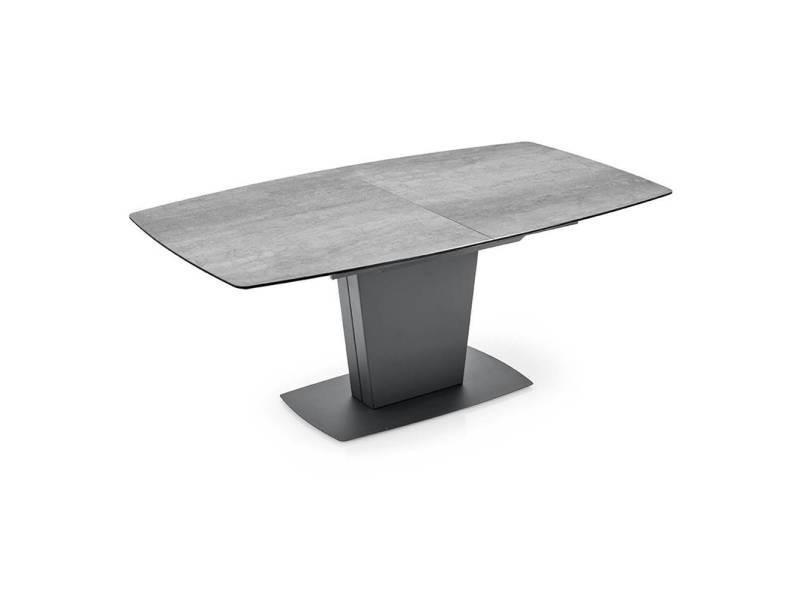 Table de repas extensible jadis gm plateau en ceramique ciment 20100877070