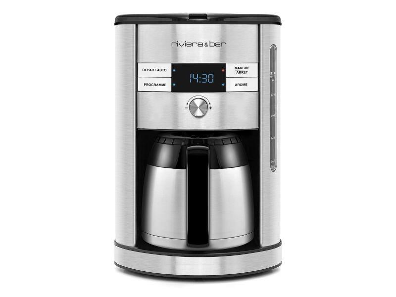 Cafetiere filtre 15t 1,5l isotherme programmable 24h selecteur d'arome riviera & bar - bcf560