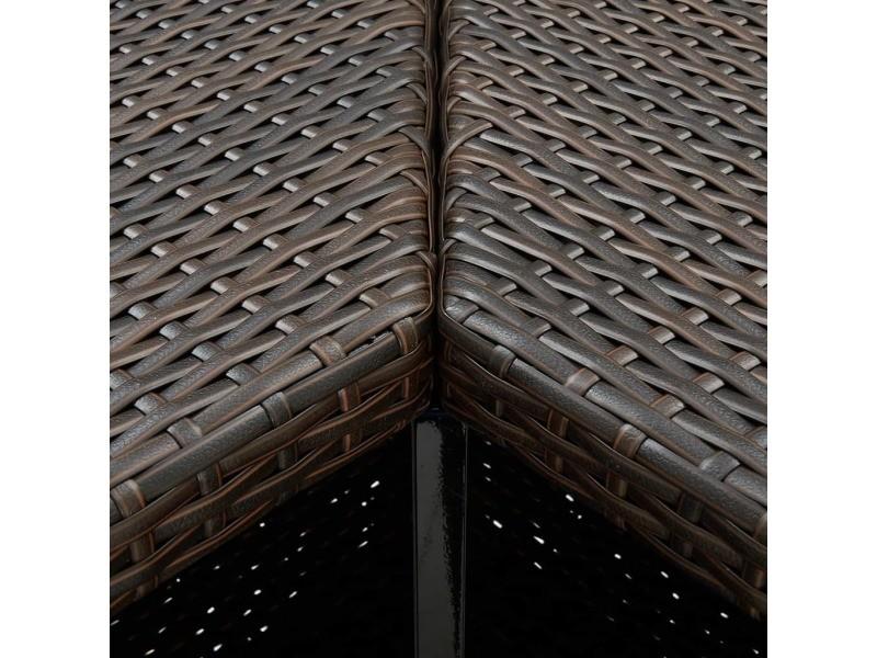 Vidaxl table d'angle de bar marron 100x50x105 cm résine tressée 313480