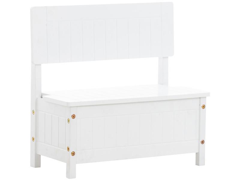 Banquette coffre pour enfants ninda en bois , blanc