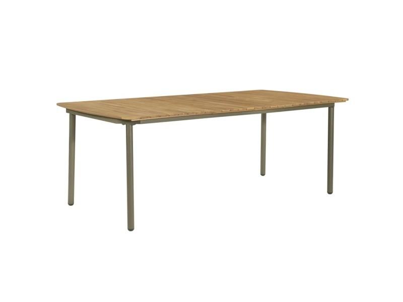Vidaxl mobilier à dîner d'extérieur 9pcs bois d'acacia solide et acier 47296