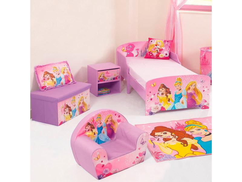 Banc & coffre à jouets en tissu pliable princesse disney - Vente de ...