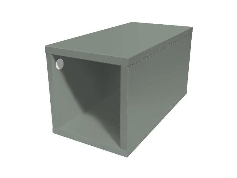 Cube de rangement bois 25x50 cm 25x50 gris CUBE25-G
